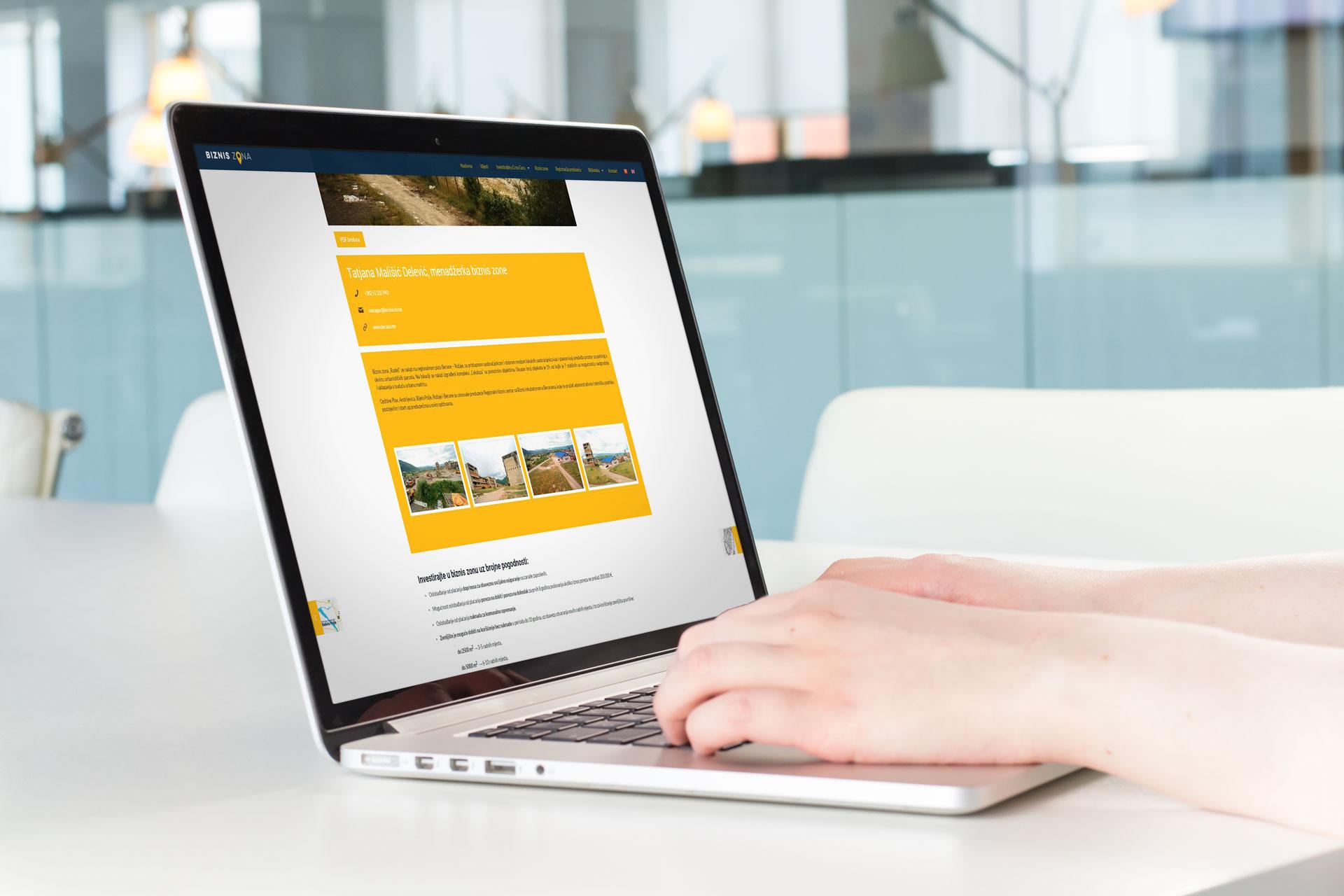 biznis zona web site template